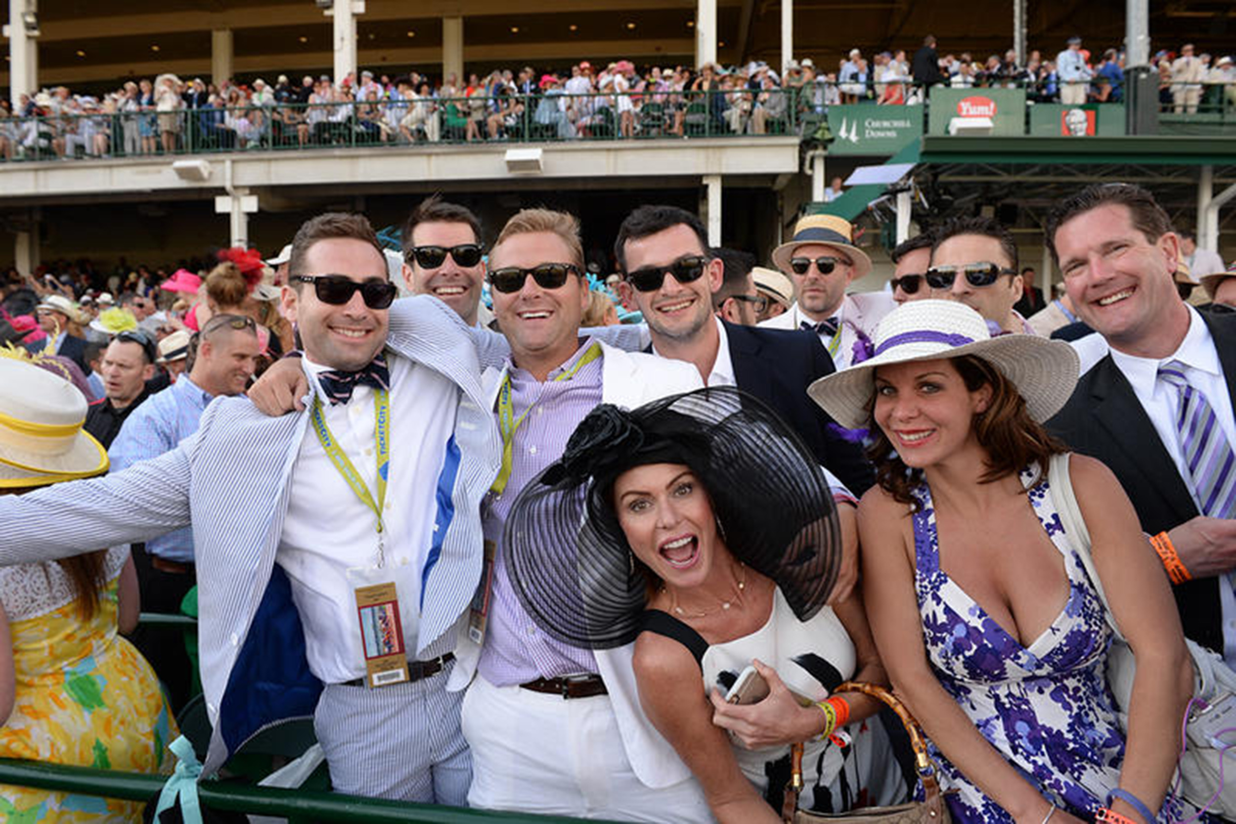 our guests in the clubhouse enjoying the kentucky derby