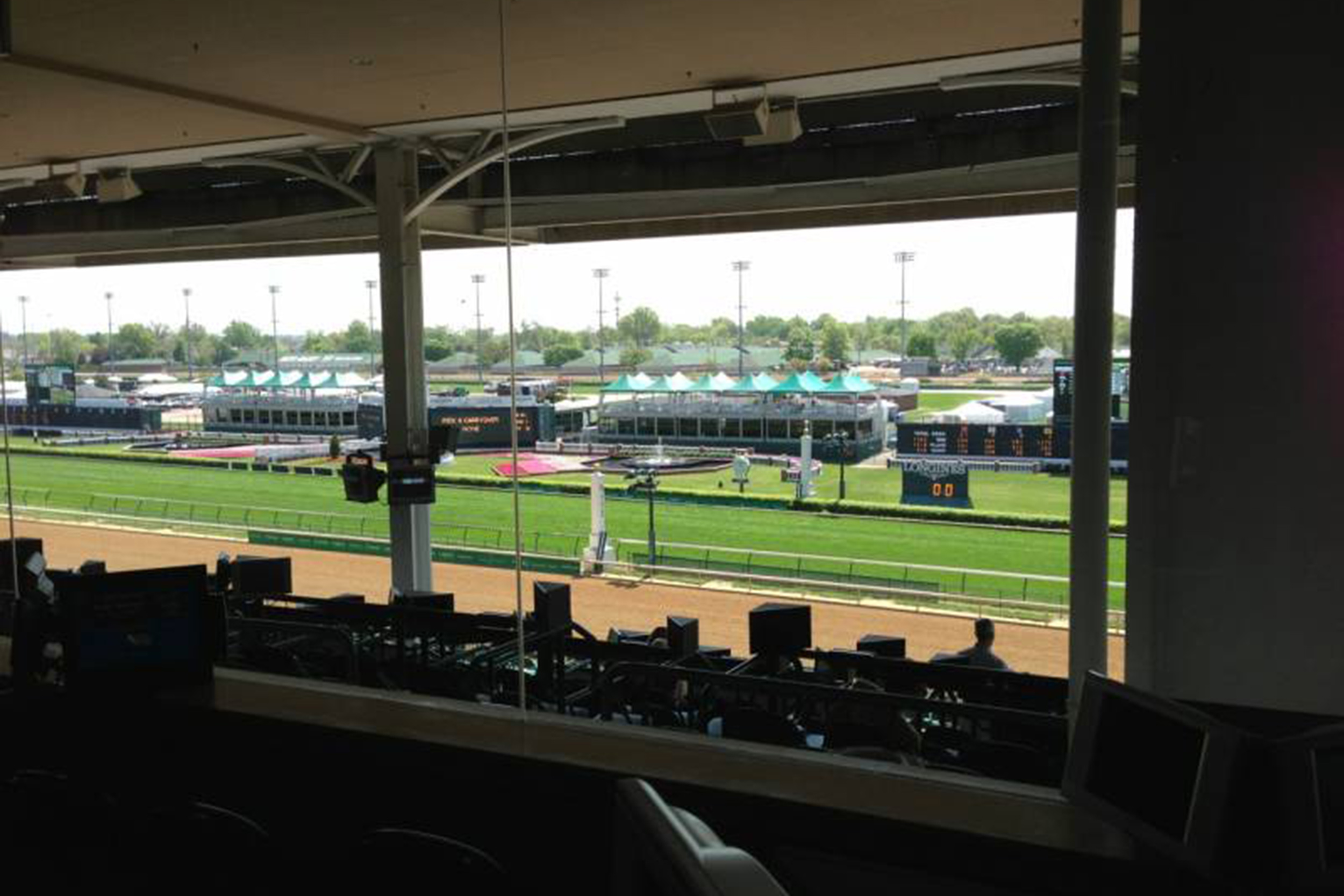 interior premium boxes in the clubhouse afford a spectacular view