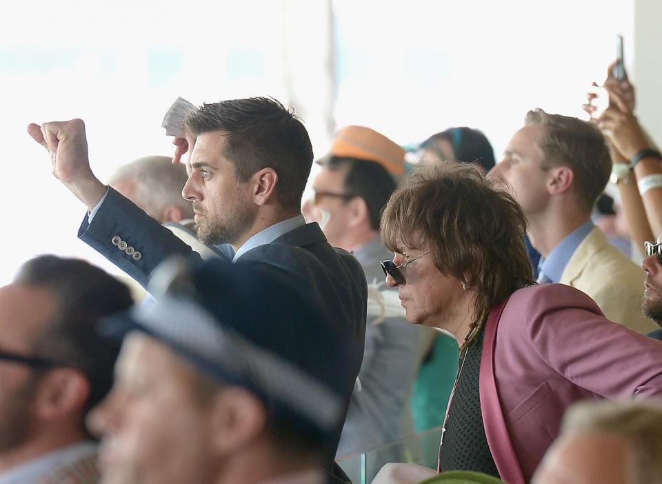 celebrities are a common sight in the turf club