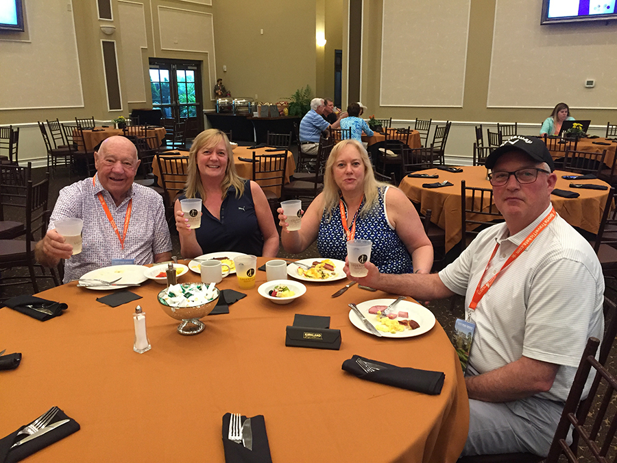 Masters hospitality guests enjoy breakfast buffet before the tournament.JPG
