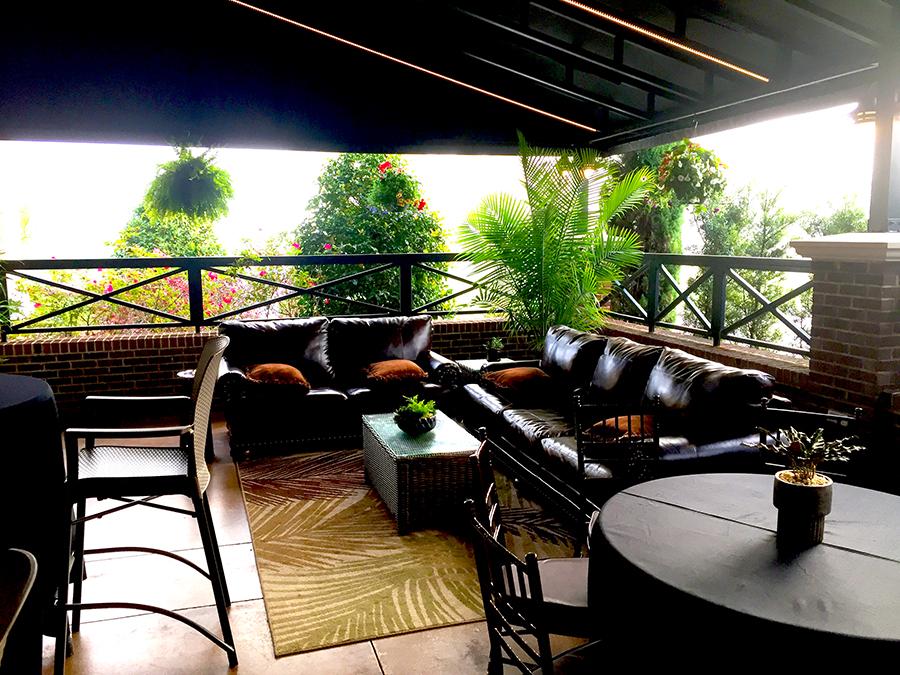 Masters tournament VIP hospitality patio lounge.JPG