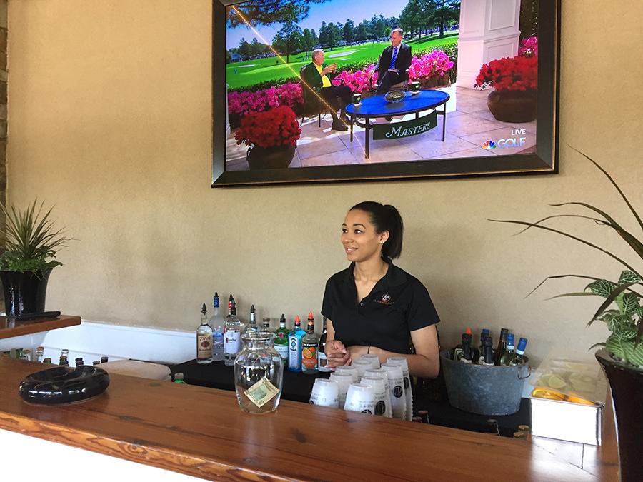 Masters VIP hospitality premium patio open bar.JPG