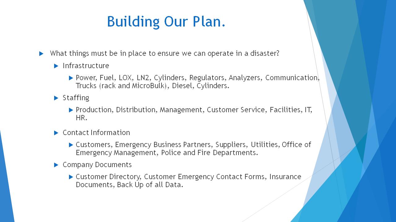 Building an Emergency Plan