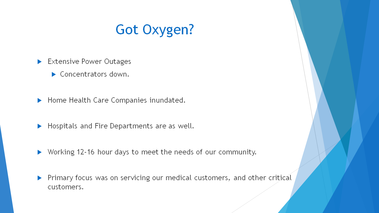 Medical Oxygen Supply Continuity