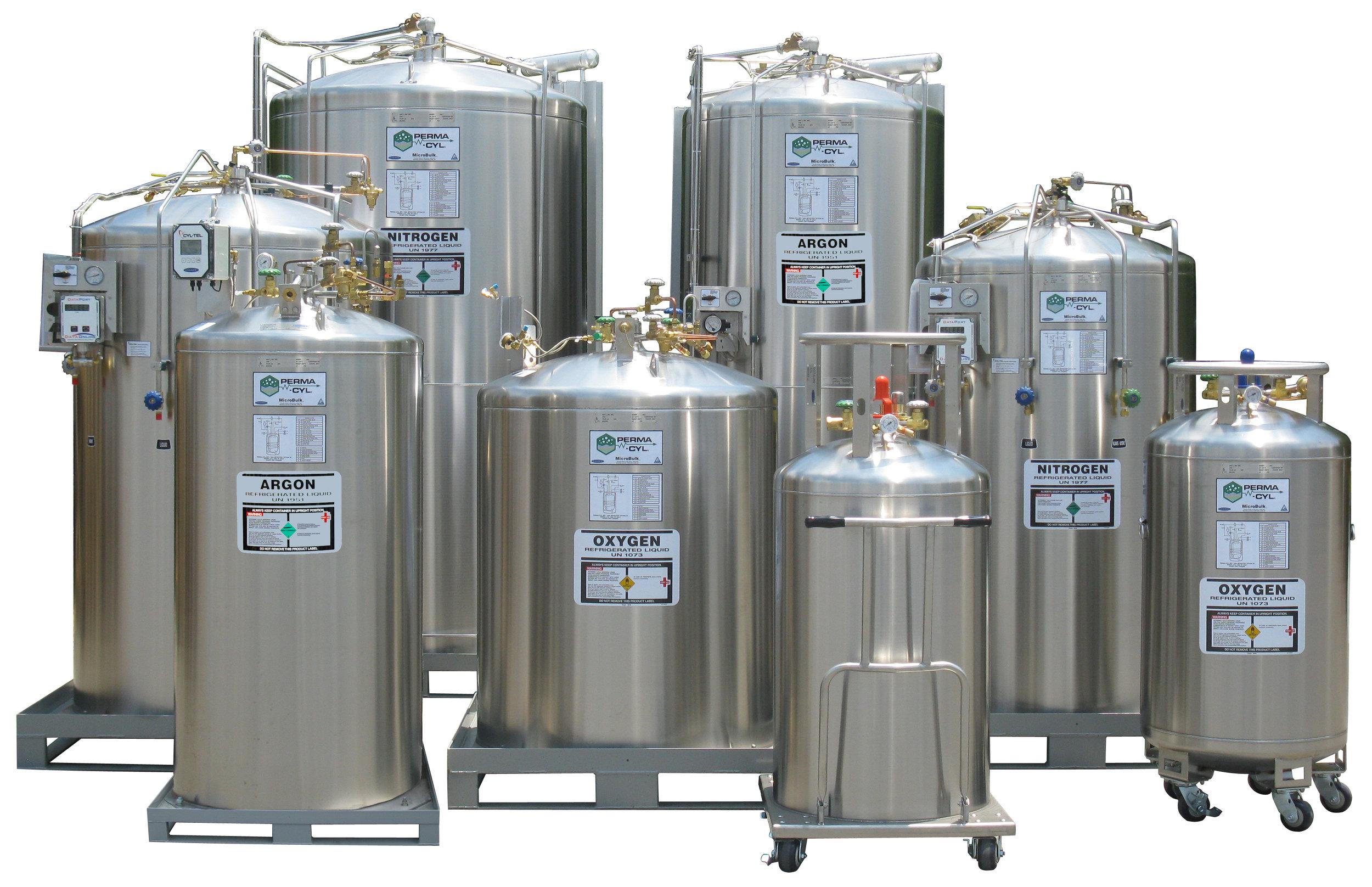 Cryogenic Microbulk Cylinders