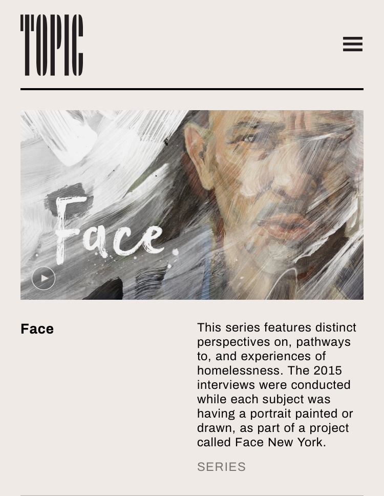 FACE: A series directed by Erin Sanger