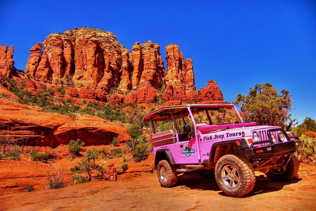 Although there are many jeep tour companies in Sedona, the original and most famous is Pink Jeep. Pink Jeep has been around almost as long as Lo Lo Mai (They started bouncing people around the red rocks over 50 years ago!) and they do a great job mixing excitement, scenery and safety.
