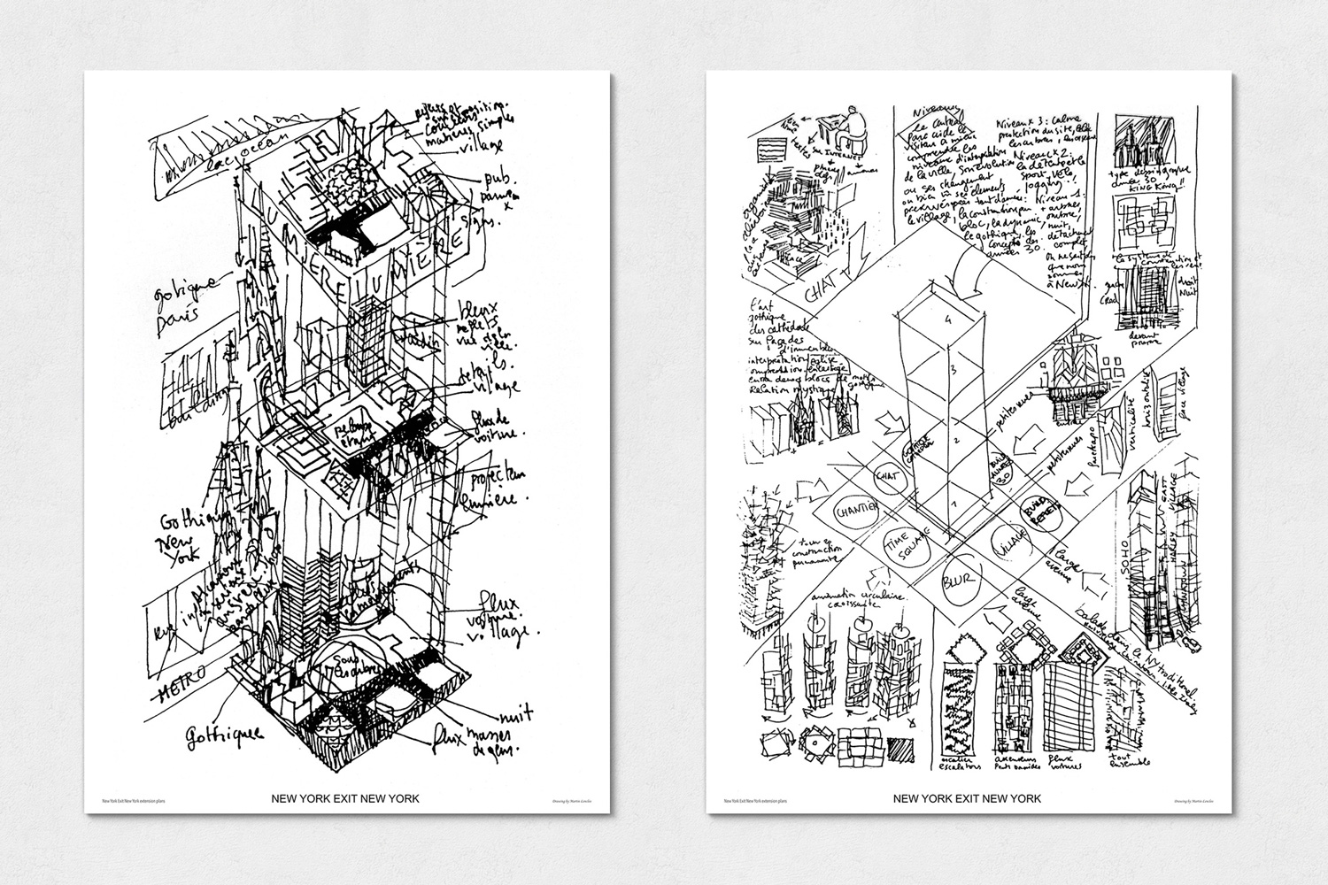Drawing Virtual New York, Martin Lenclos