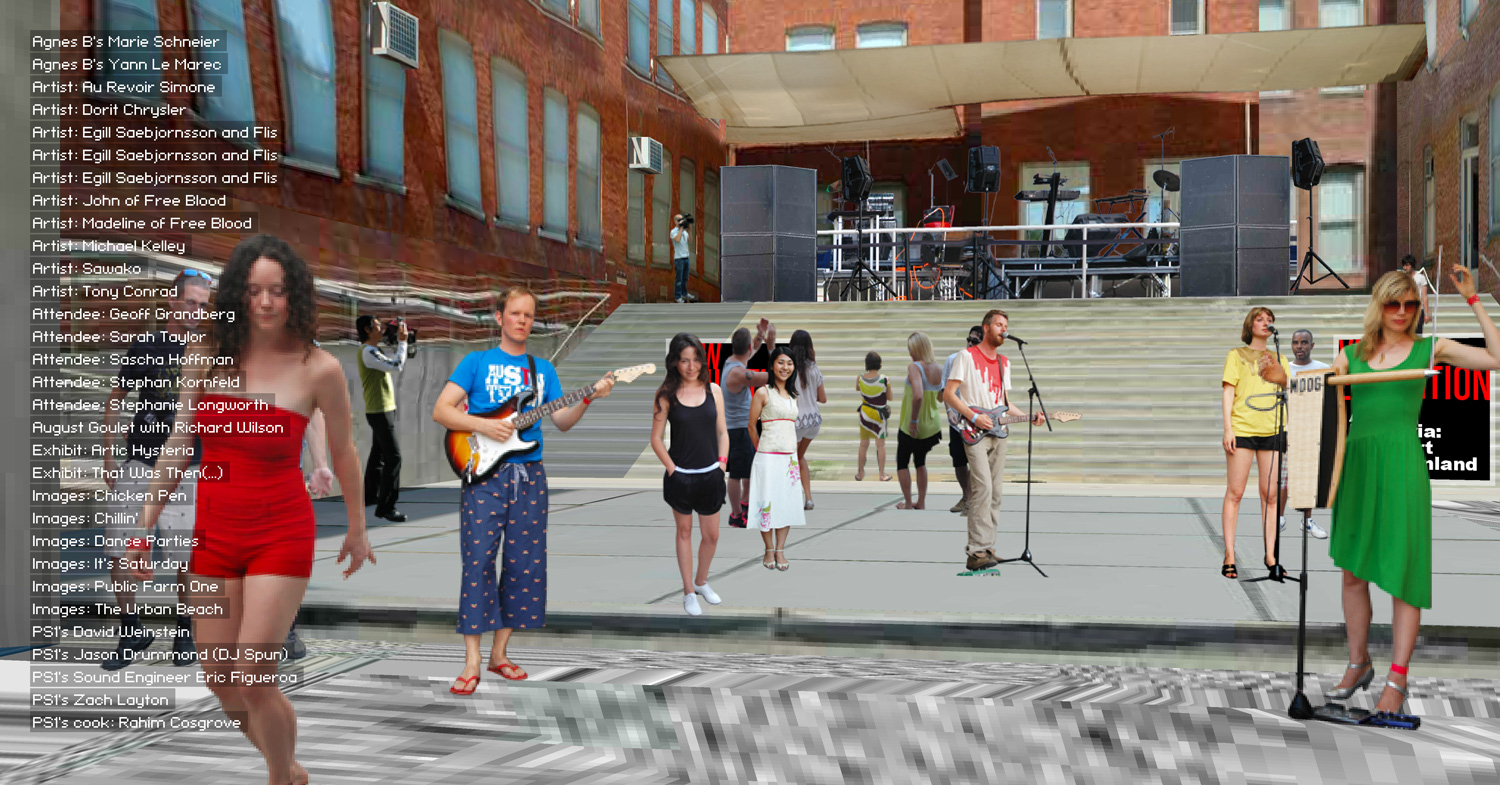 MoMA PS1 Music Parties Coverage in 3D Martin Lenclos