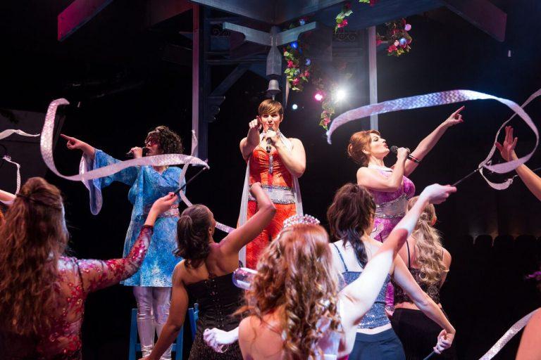 Cassie Slater, Danni Smith and Meghan Murphy in Mamma Mia @ The Marriott Theater