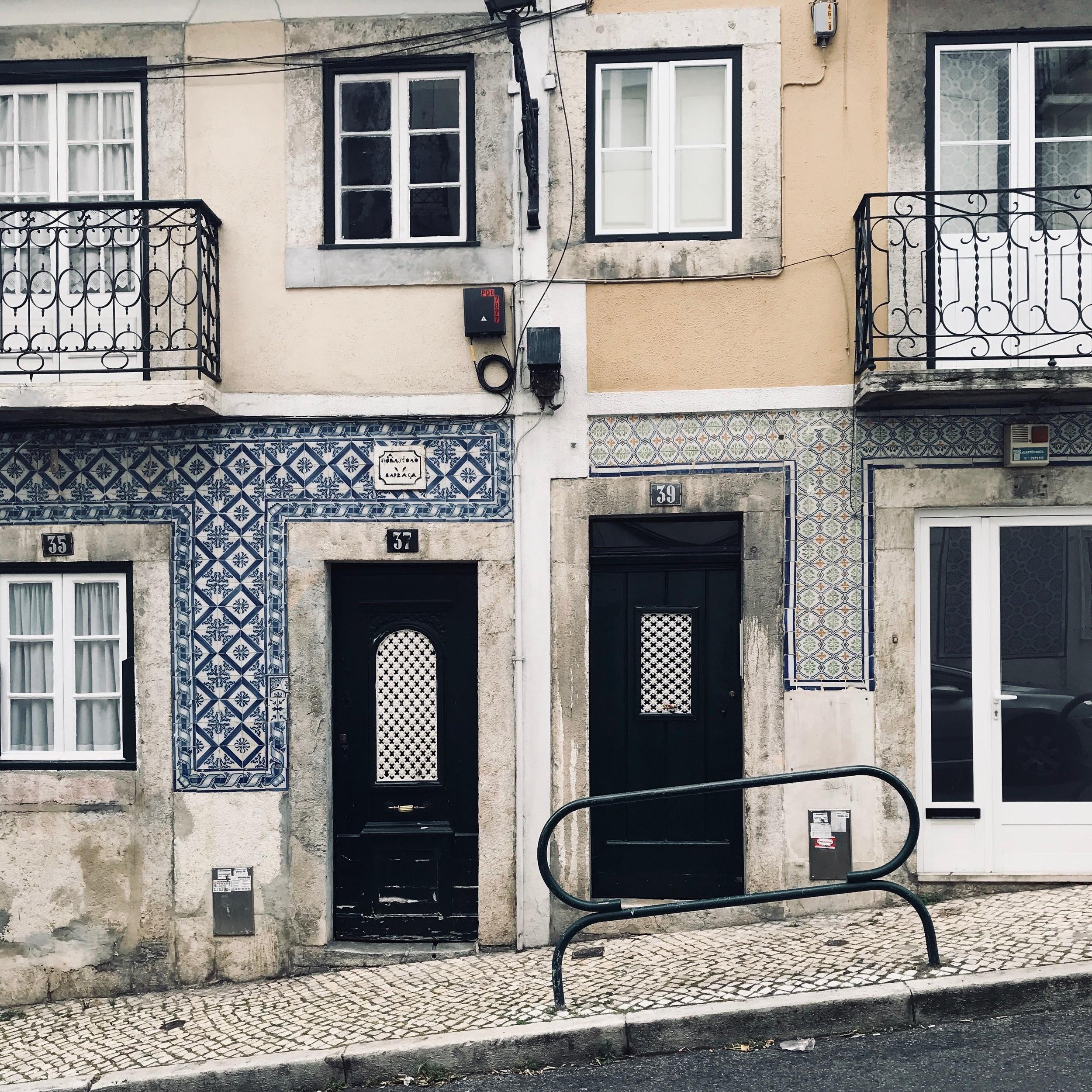Lisbon's tiled façades