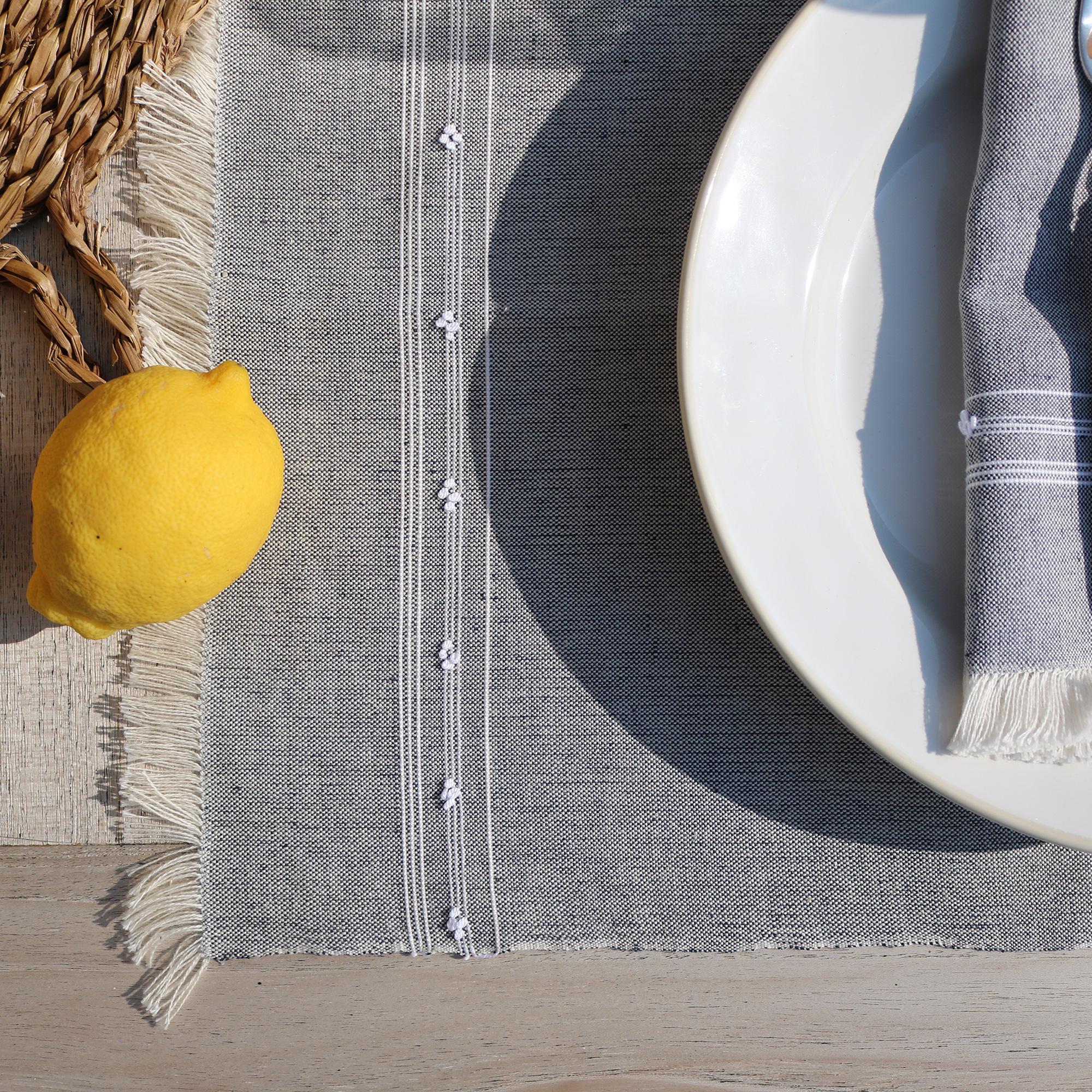 LUSITANO STUDIO's Handwoven Linen Vila Real Placemats