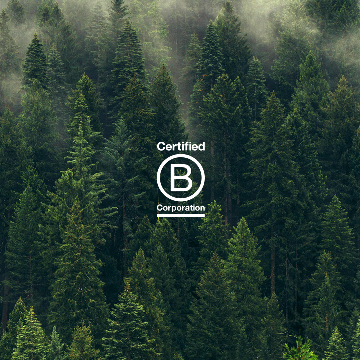 B Corp We're a certified B-Corp that strives to do what's right for people, planet and profit.