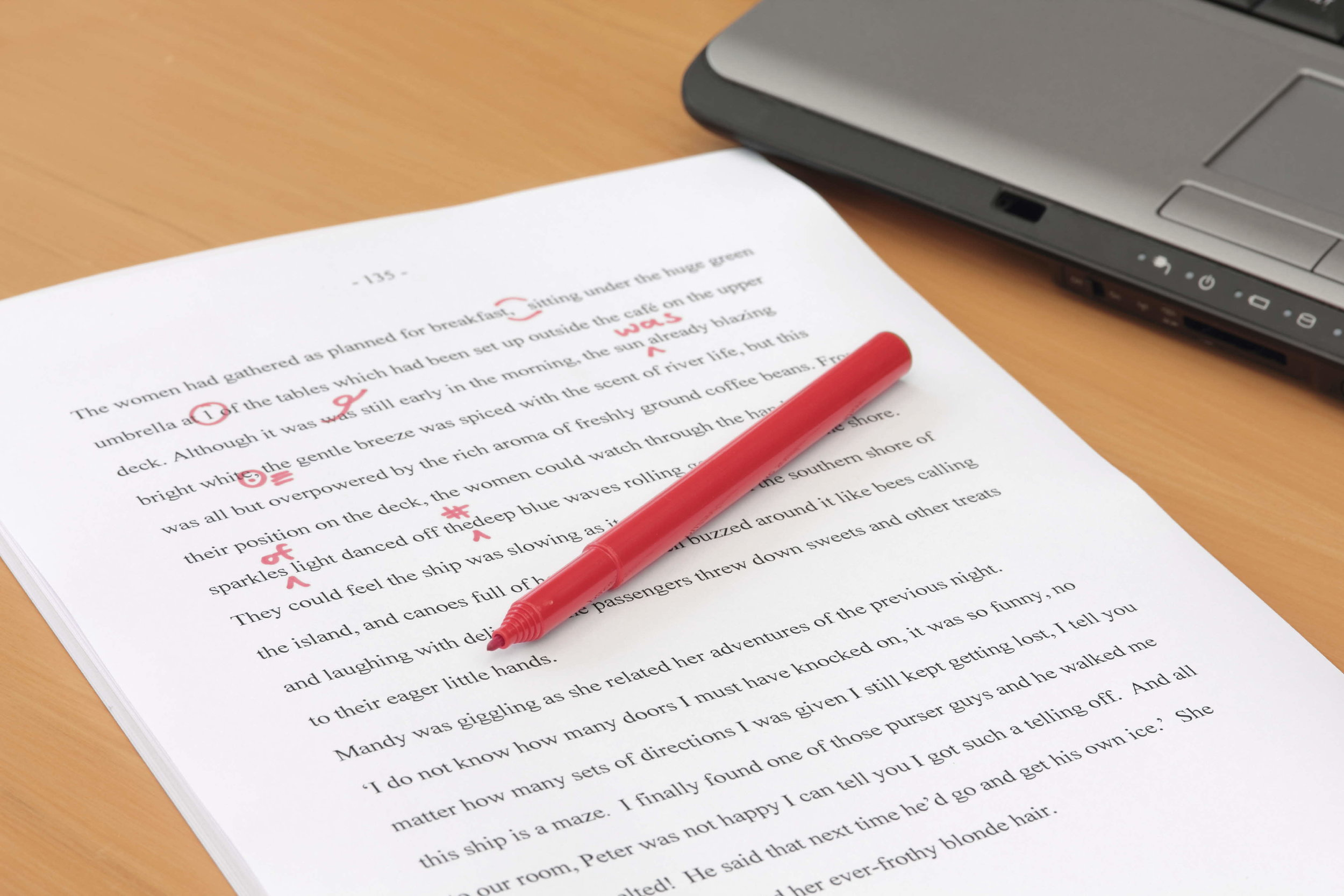 proofreading and copy-editing