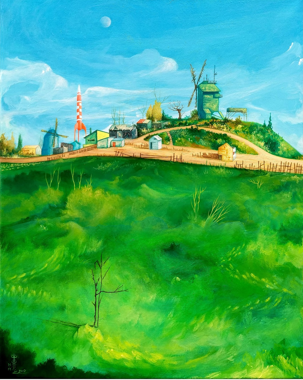 Moulin de la Galette (after Vincent Van Gogh)
