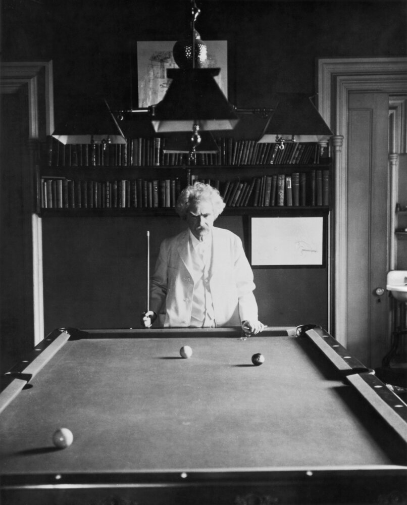 Samuel Clemens (Mark Twain) was fond of pool.