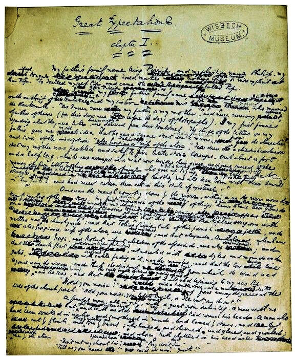 Draft of Charles Dickens'  Great Expectations
