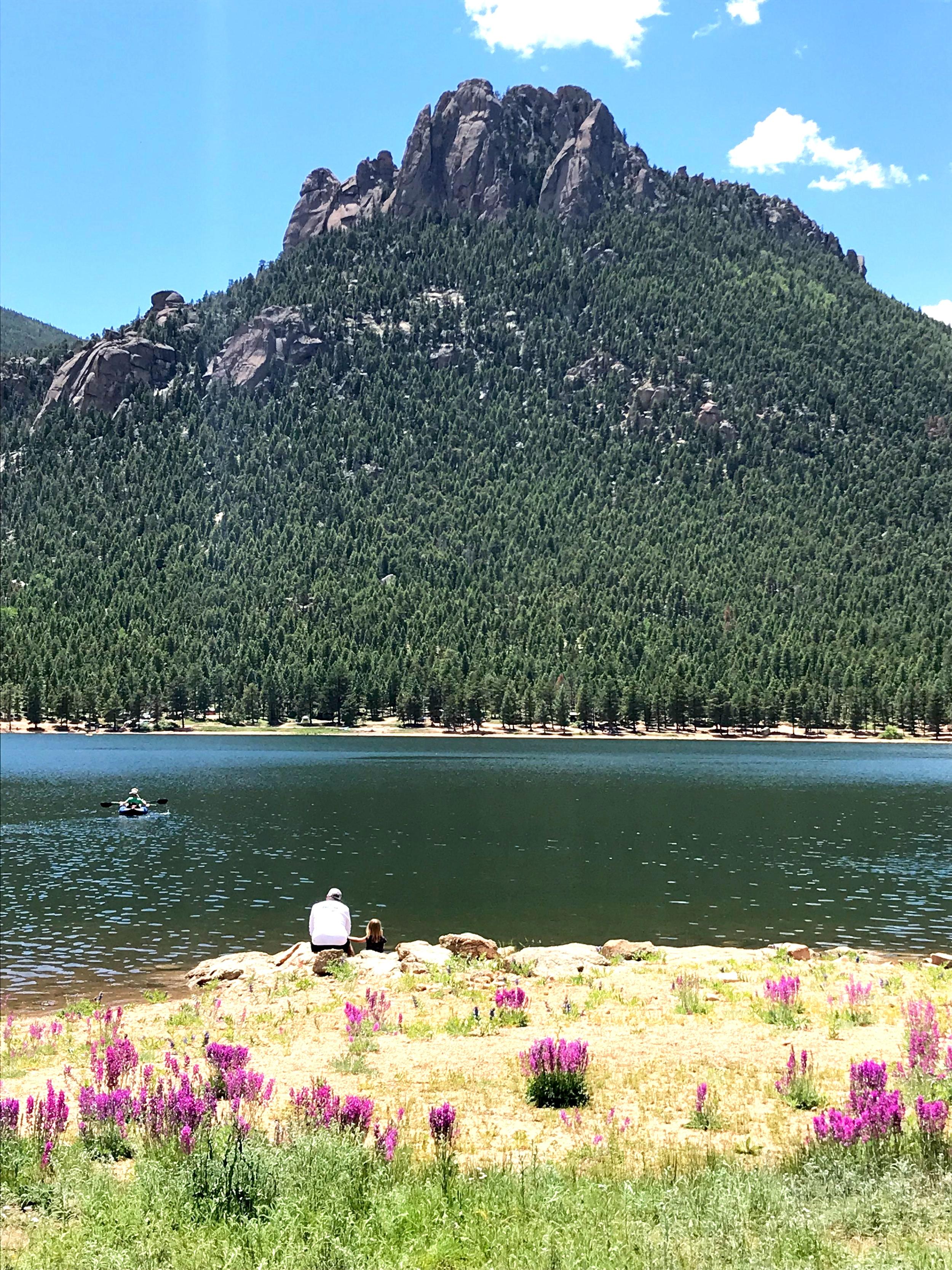 A dad and his girl Wellington Lake.