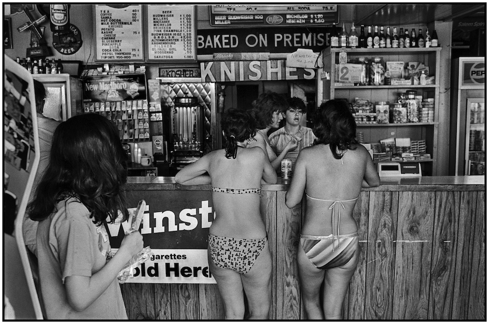 """Baked On Premises. Knishes."" Store on Brighton Beach Boardwalk. May 31, 1986"