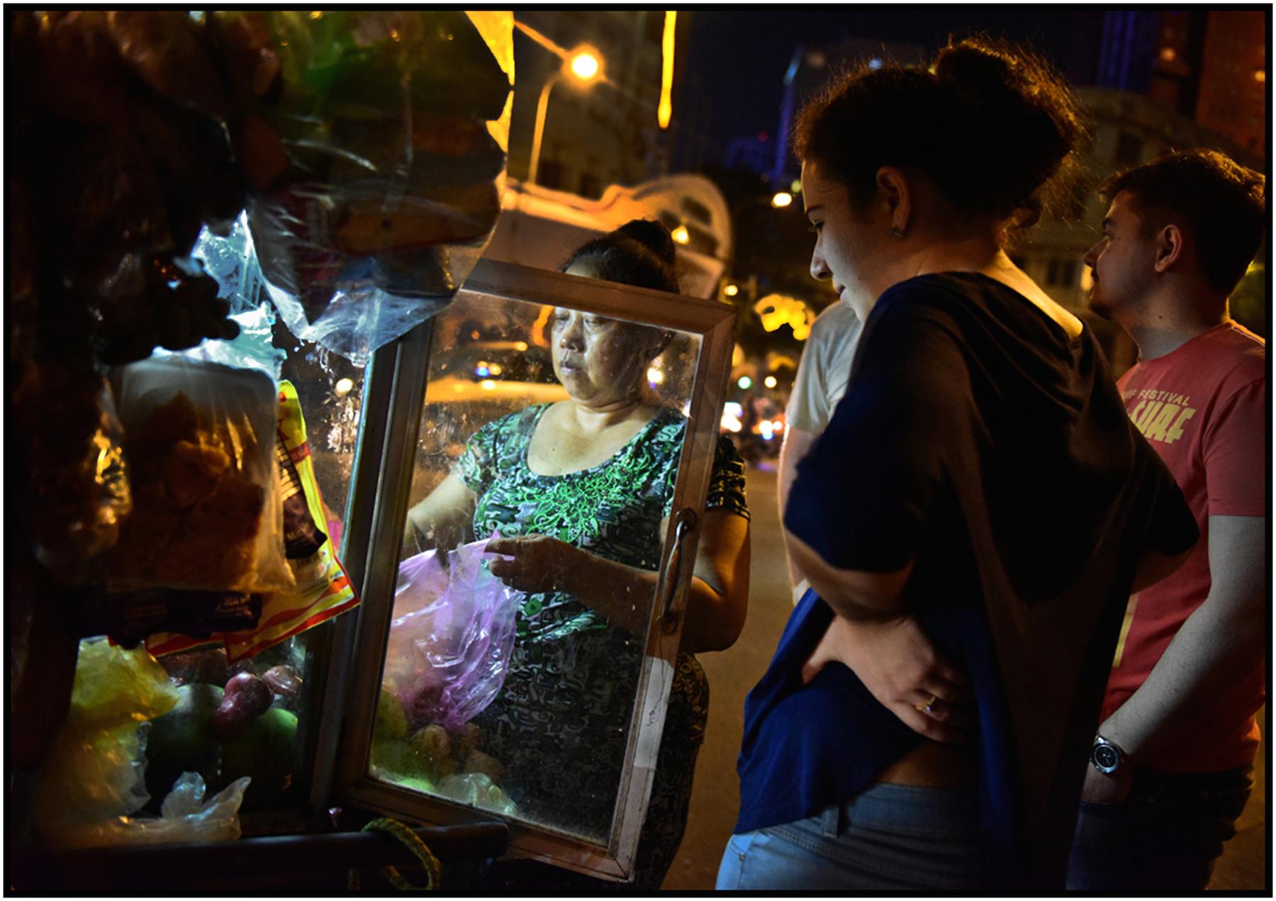 """""""The Warf,"""" tourist promenade, park, and tour boats, Saigon River, Saigon/HCMC, Dec. 2016. #2438"""