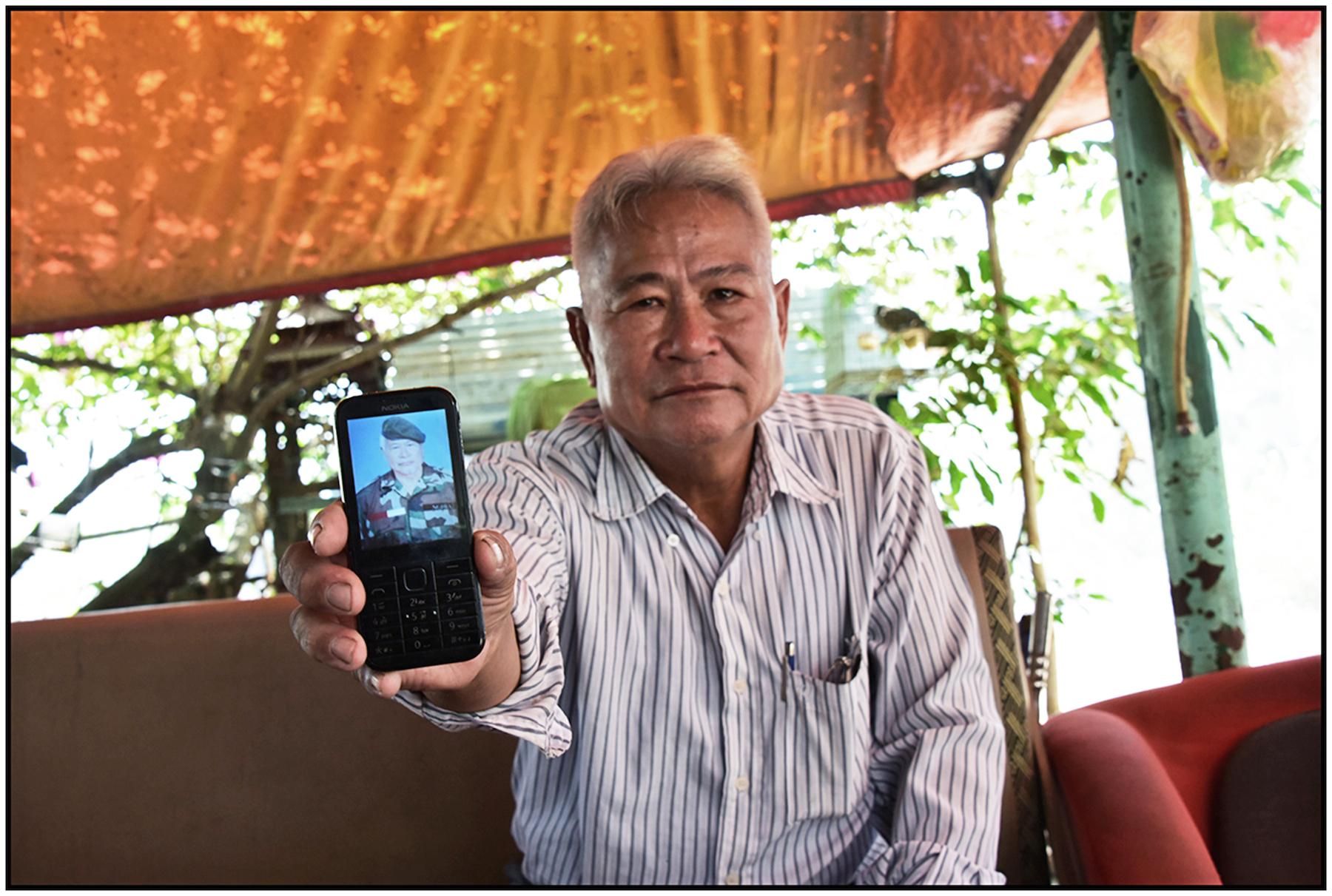 Former officer in S. Vietnamese army in his uniform, Saigon/HCMC, Dec. 2015. #5371