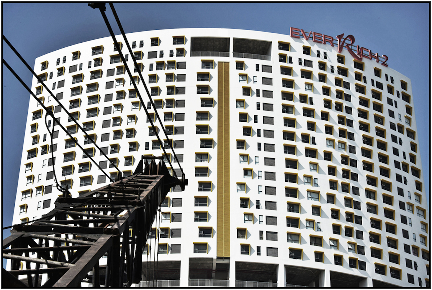 """EverRich 2"", luxury condo development under construction, Saigon/HCMC, Dec. 2015. #5347"