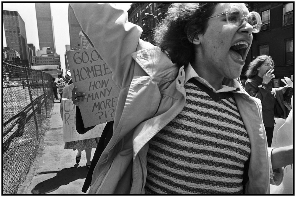 March for Affordable Housing, Manhattan, 1985.