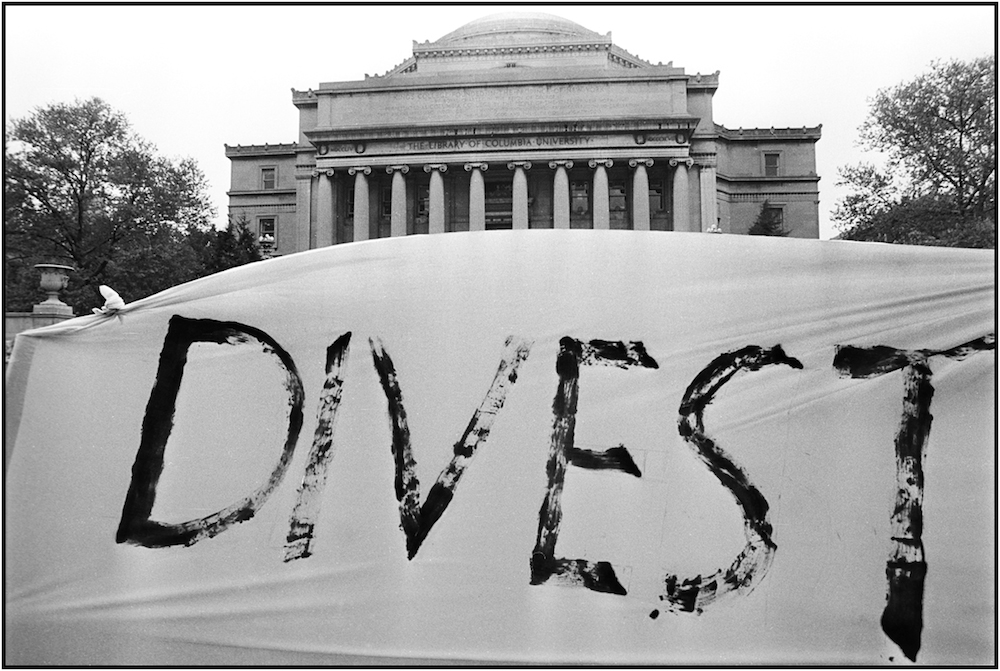 Anti-Apartheid Rally, Columbia University, NYC, May 6, 1985.
