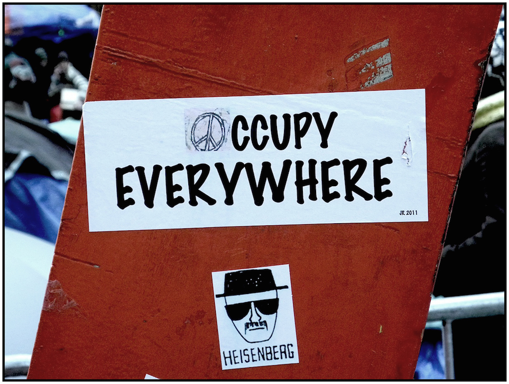 """Occupy Everywhere,"" Zucotti Plaza, NYC, November 5, 2011."