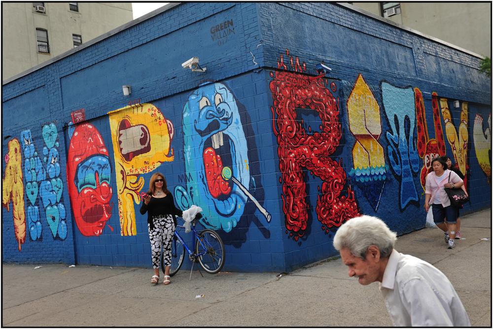 Alphabet mural.