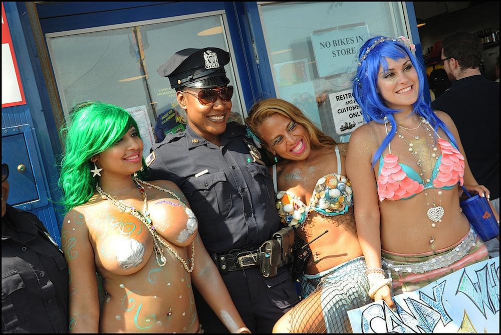 NYPD ON THE JOB   CONEY ISLAND MERMAID PARADE   JUNE 22, 2013   .JPG