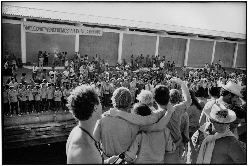 CUBANS WELCOME BRIGADISTAS  HAVANA HARBOR  1969  George  Cohen   copy.jpg