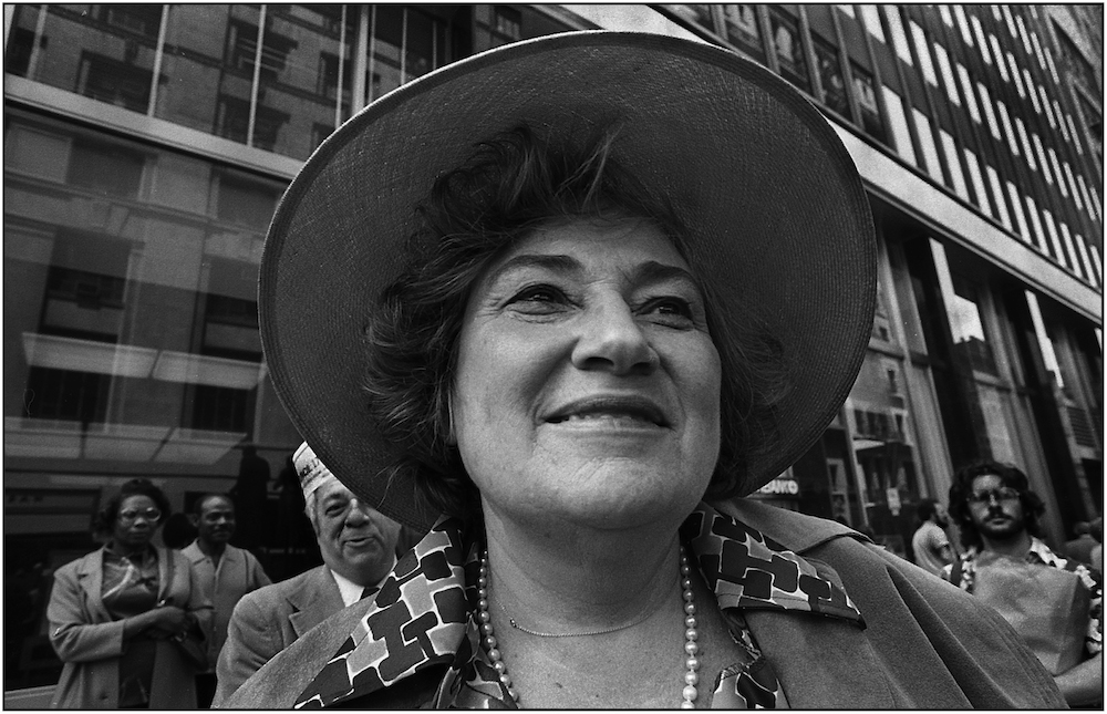 Bella Abzug, 1977.