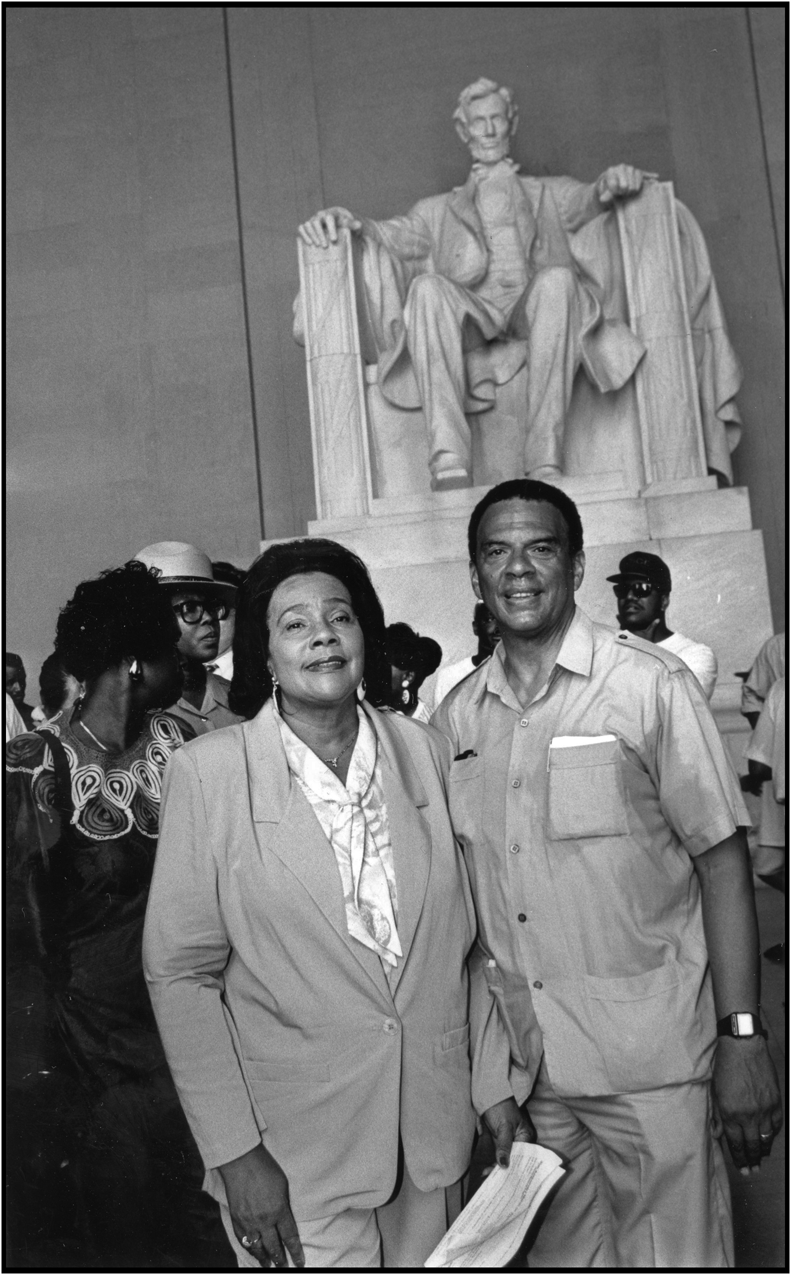 Coretta Scott King and Andrew Young, Wash., D.C., August 23, 1993.