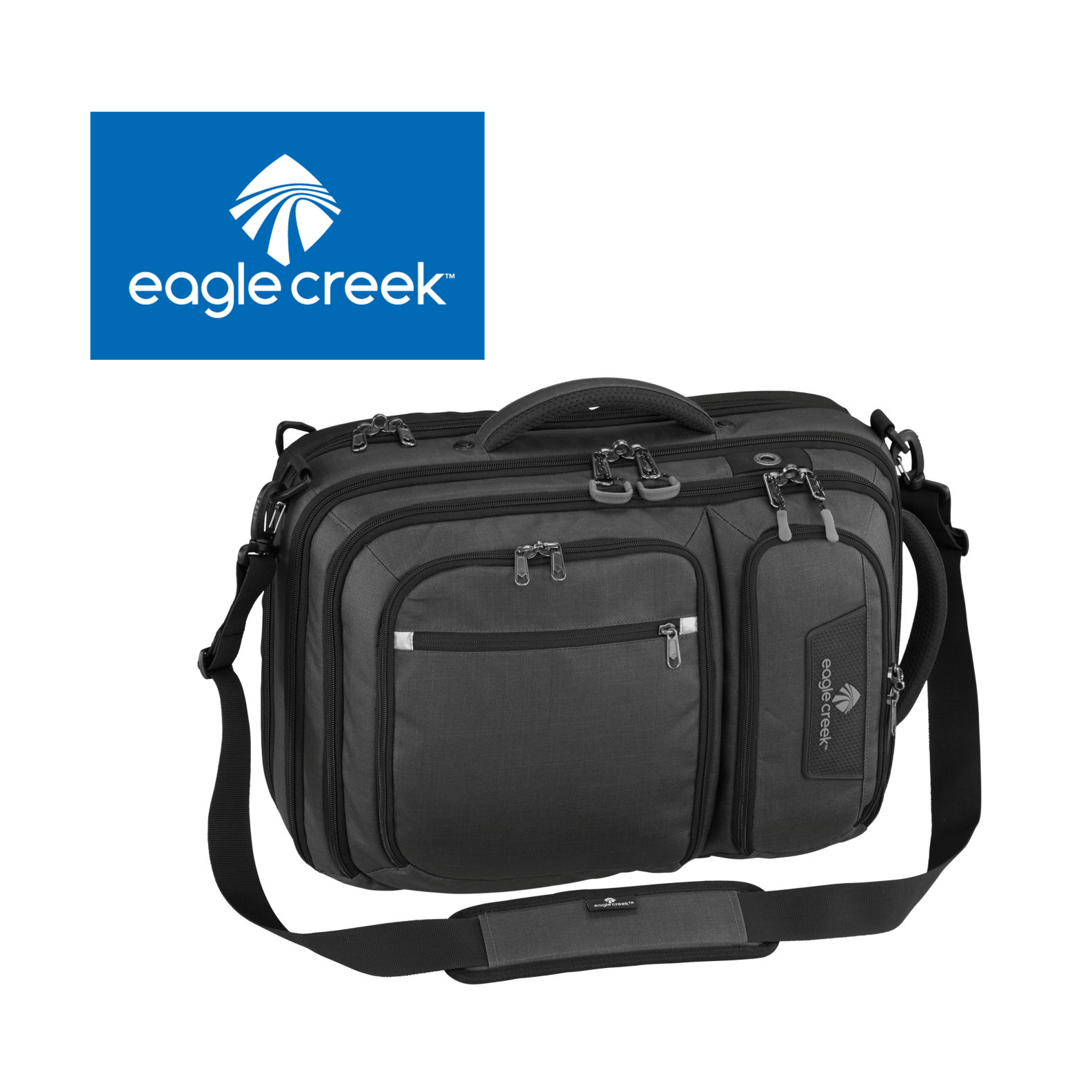 Convert A Briefcase & Compression Cube - This Checkpoint Friendly laptop brief works hard whenever and wherever you are. Complete with backpack straps when you need to be hands-free. Comes with 1 Converge Compression Cube that is a lightweight packing cube with an extra compression zipper for even more compression. So what are you waiting for?Retail: $250Donated by: Eagle Creek