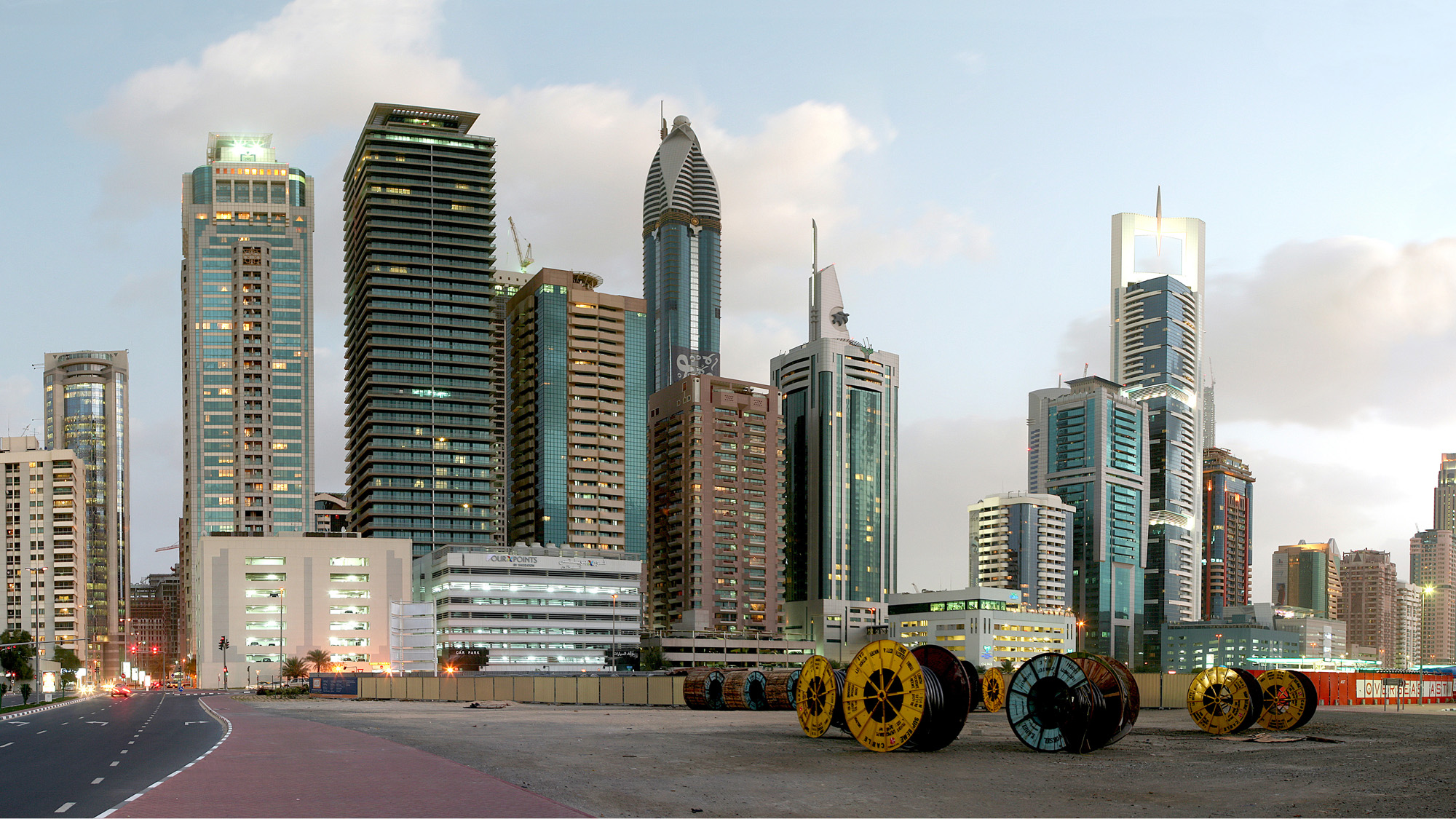 EMDB-DCB - Cityscape at Zayed Road (Cable Drums).jpg