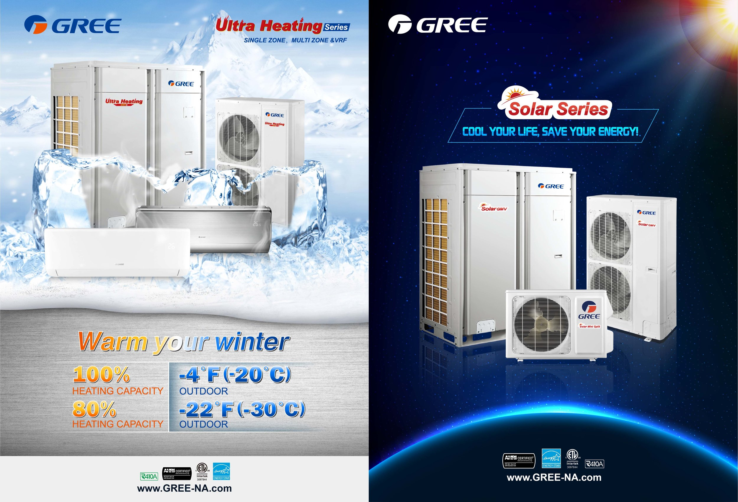 GREE-Ultra-Heating-Solar-GMV-Series-GMV5-VRF-Variable-Refrigerant-Flow-Commercial-Air-Conditioners-GREE-North-America-www.GREE-NA.com