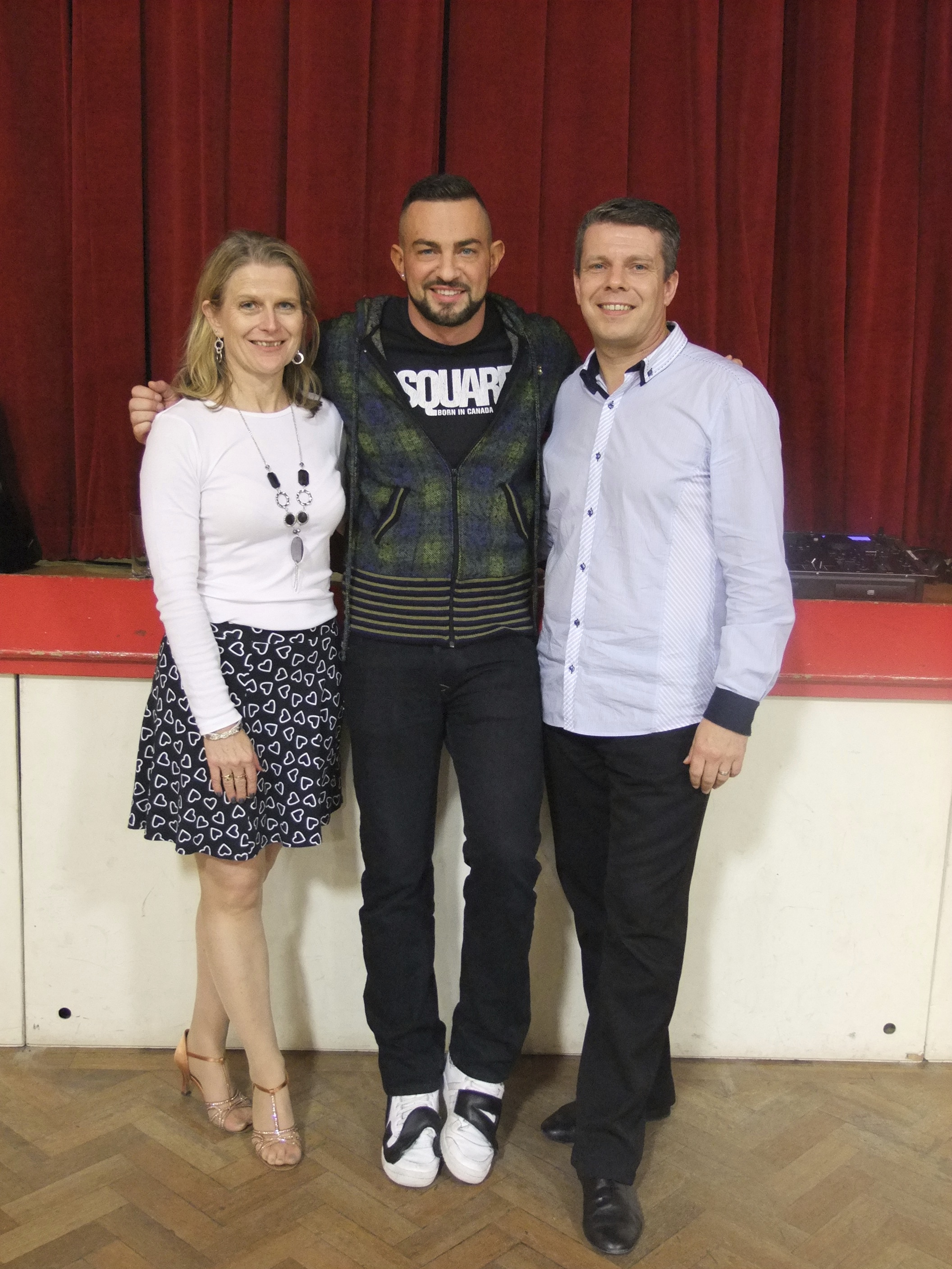 Anita & Darren with Robin Windsor who taught some workshops at AND Dance.