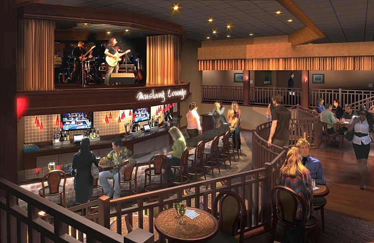 MUSTANG LOUNGE, SHOOTING STAR CASINO  Mahnomen, MN