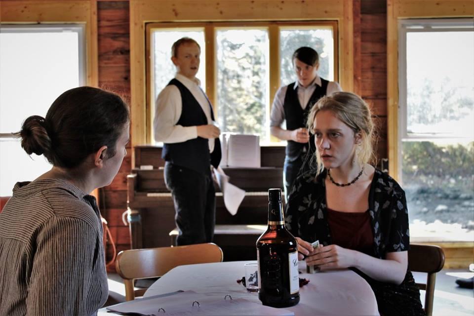 Julia Larsen, Patrick Harvey, Harrison Densmore, Olivia Rose Barresi. Photo by Corbin Went.