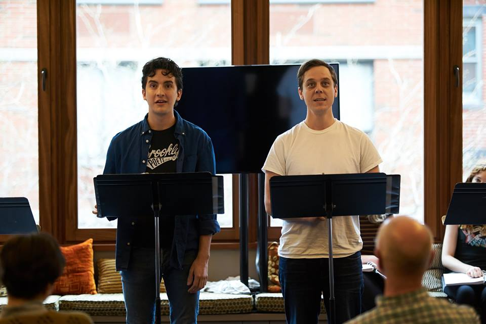 Gregory Cuellar* and Carson Scott Higgins* (*AEA, Photo Courtesy of the Playwrights Realm)