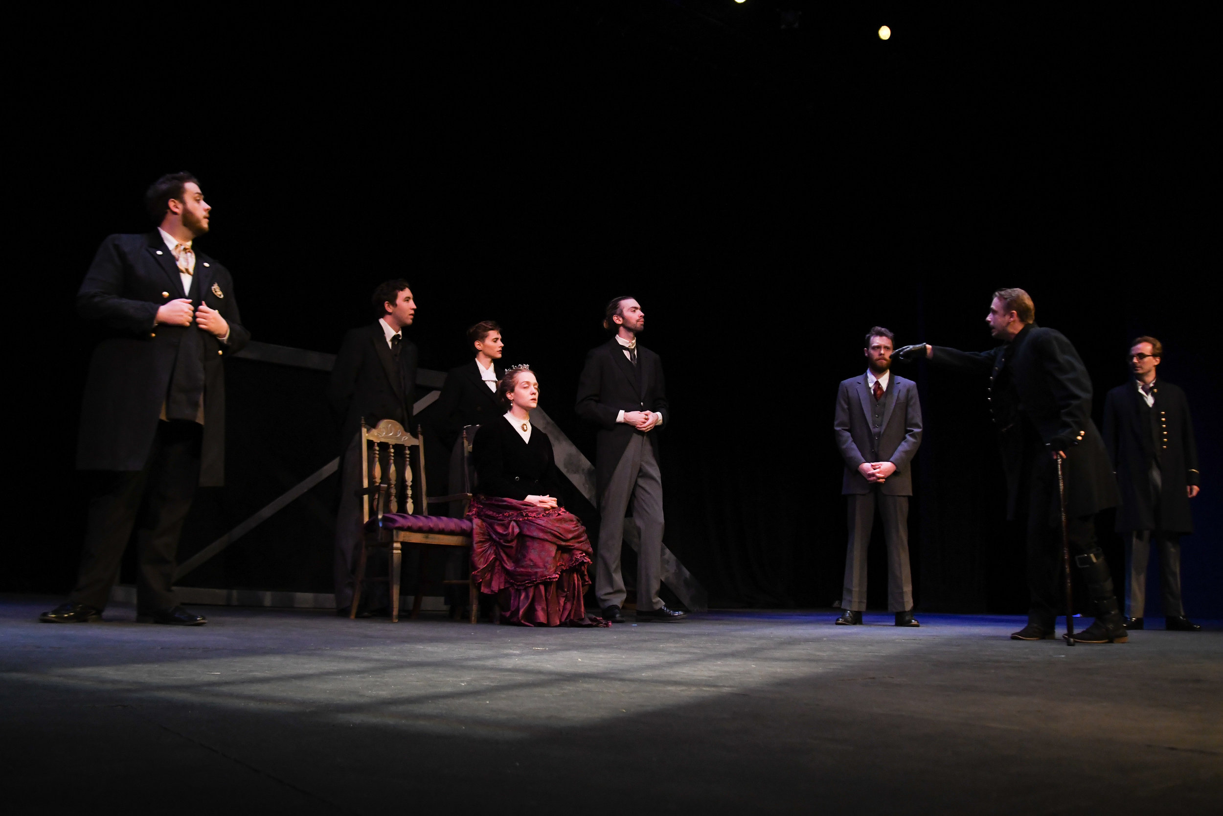 Richard III Ensemble. Photo by Liza Gillette.