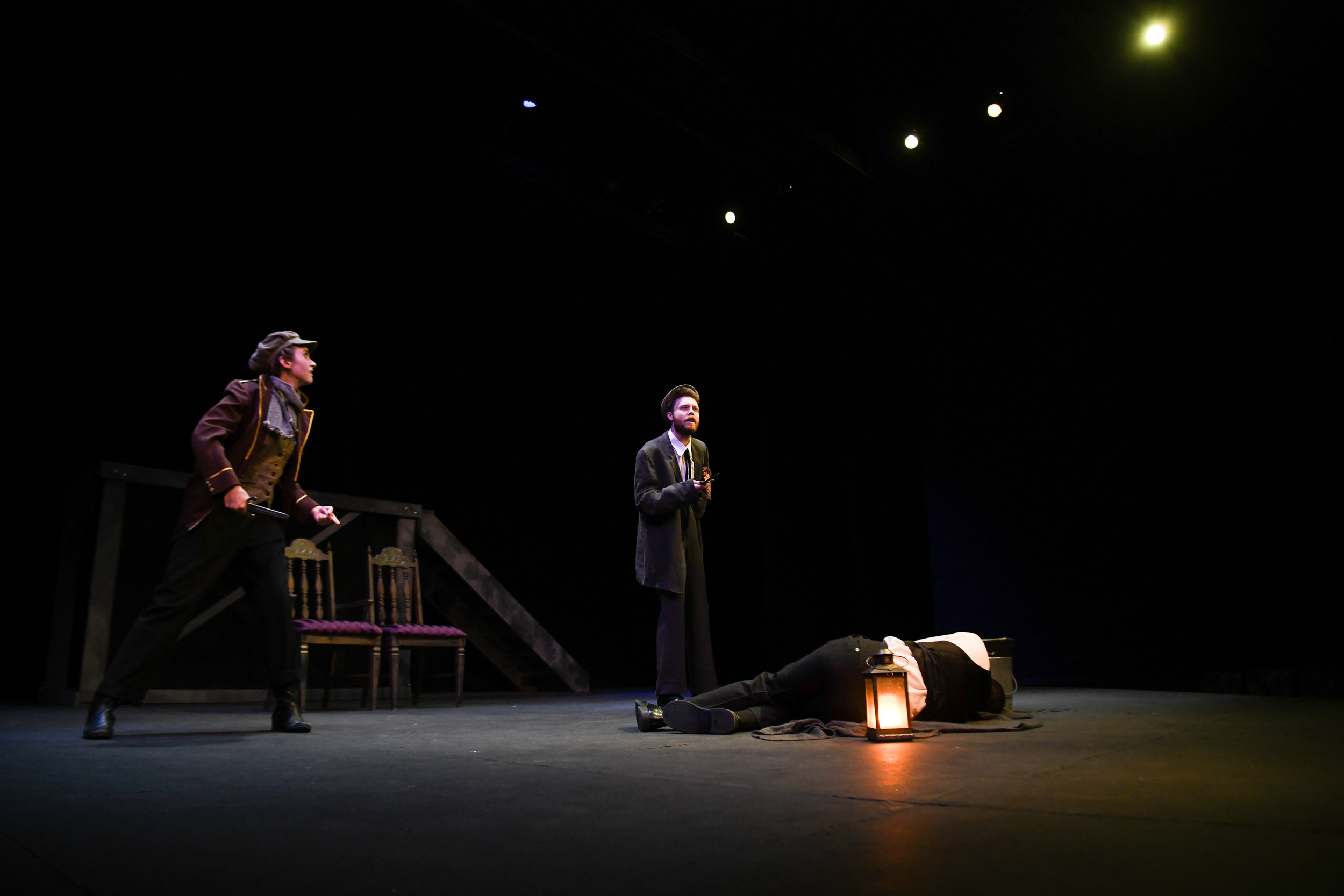 Natasha Nightingale, Will Ormsby Cary, Daniel Holme. Photo by Liza Gillette.