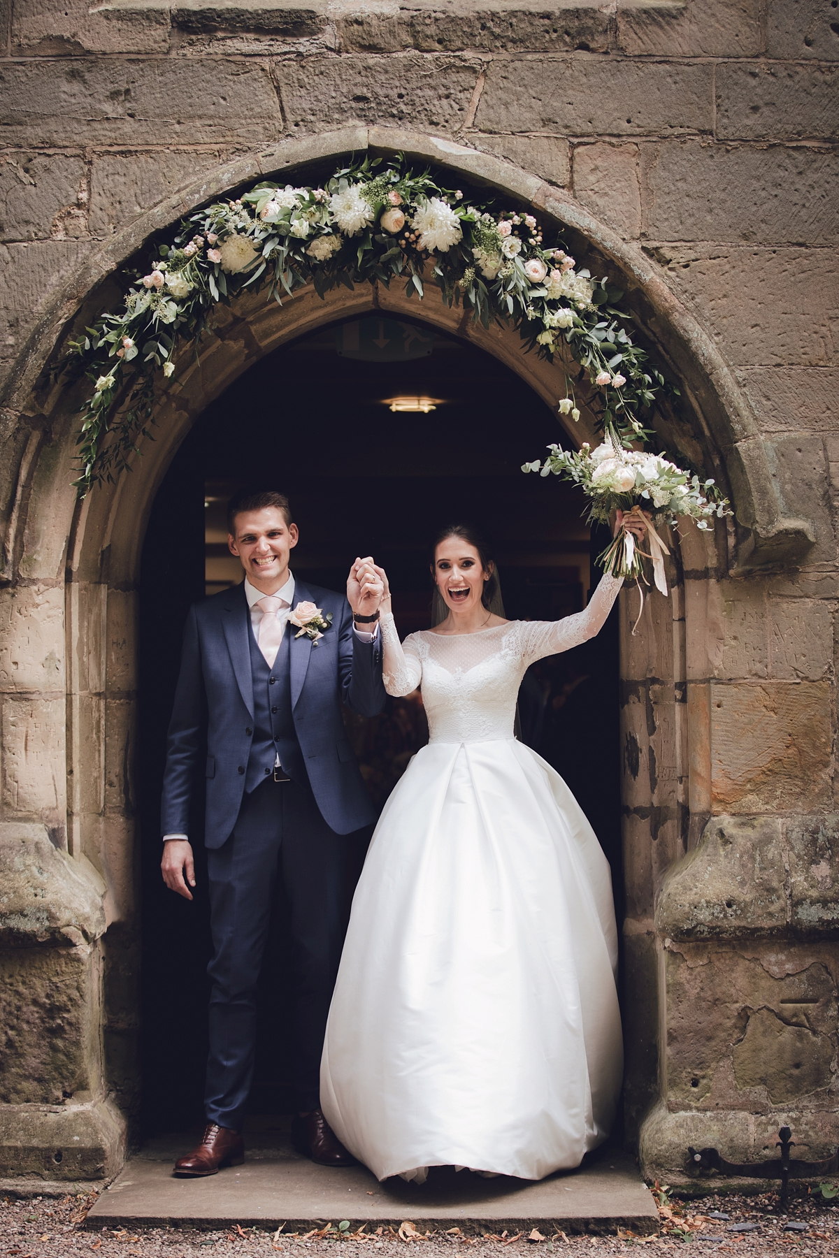 Jesus Peiro Wedding Dress With Pockets For A Wedding In Shades Of Blush At Prestwold Hall