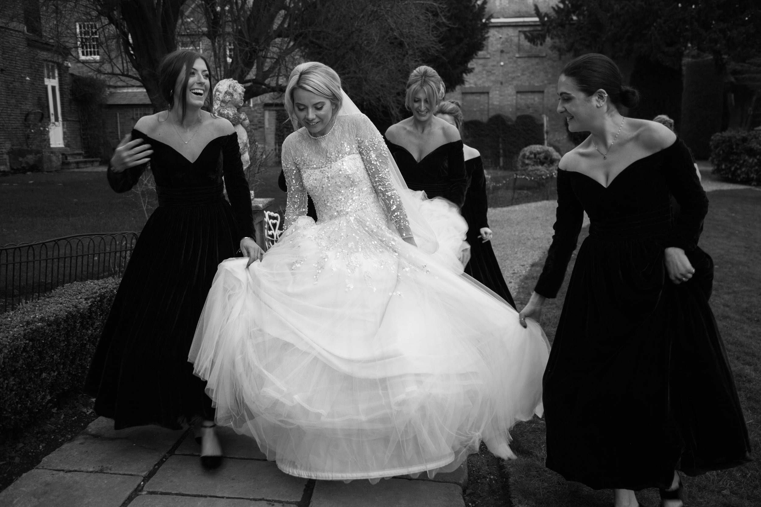 A Glamorous Jenny Packham Wedding Gown For A Romantic Winter Wedding At Norwood House 11.jpg