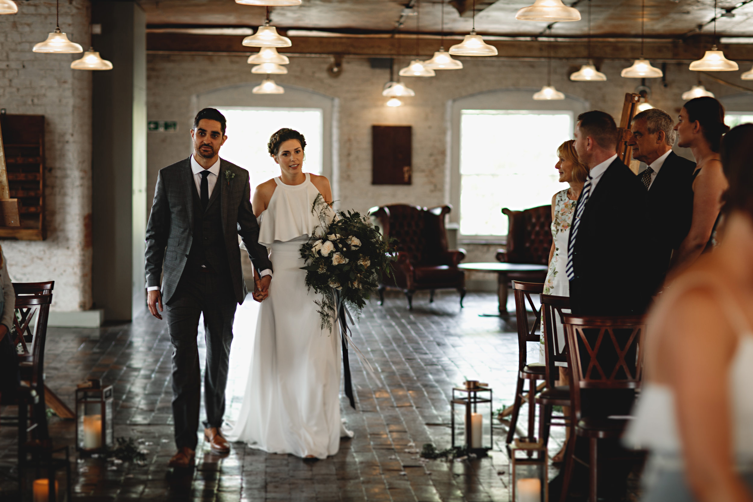 Jesus Peiro For A Chic And Modern Industrial Wedding At The West Mill 11.jpg