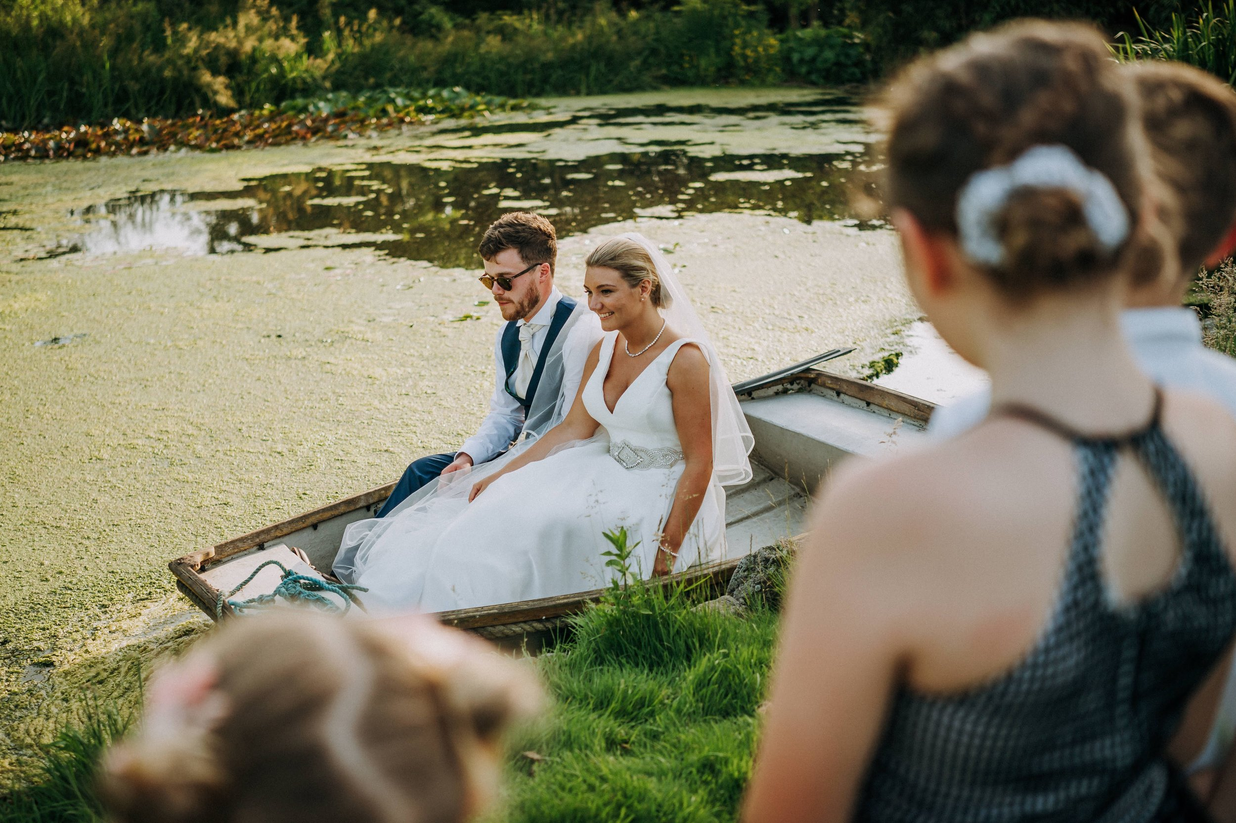 summer wedding at hodsock priory