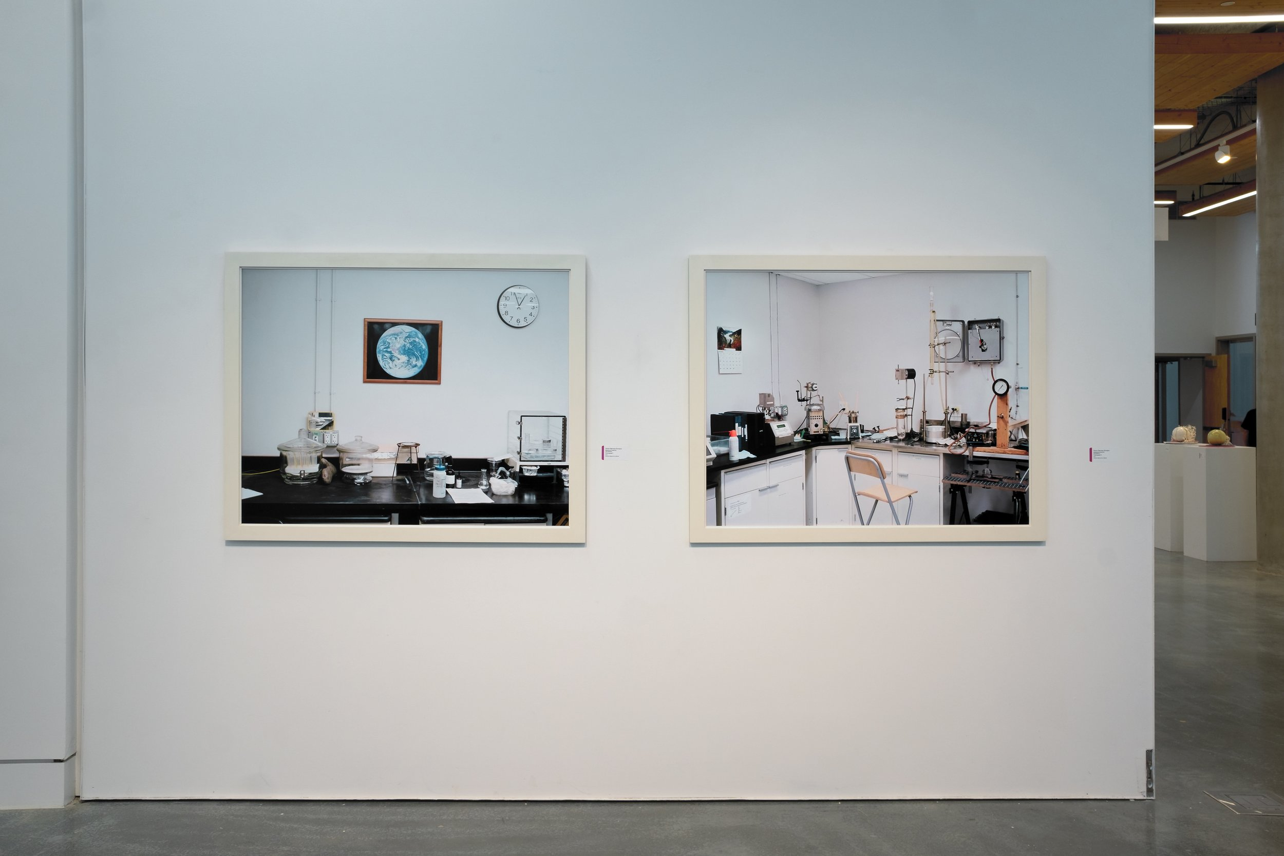 Installation View from ECUAD Grad Show,  Palimpsest #1 (left) and Palimpsest #2 (right),  Vancouver, 2018