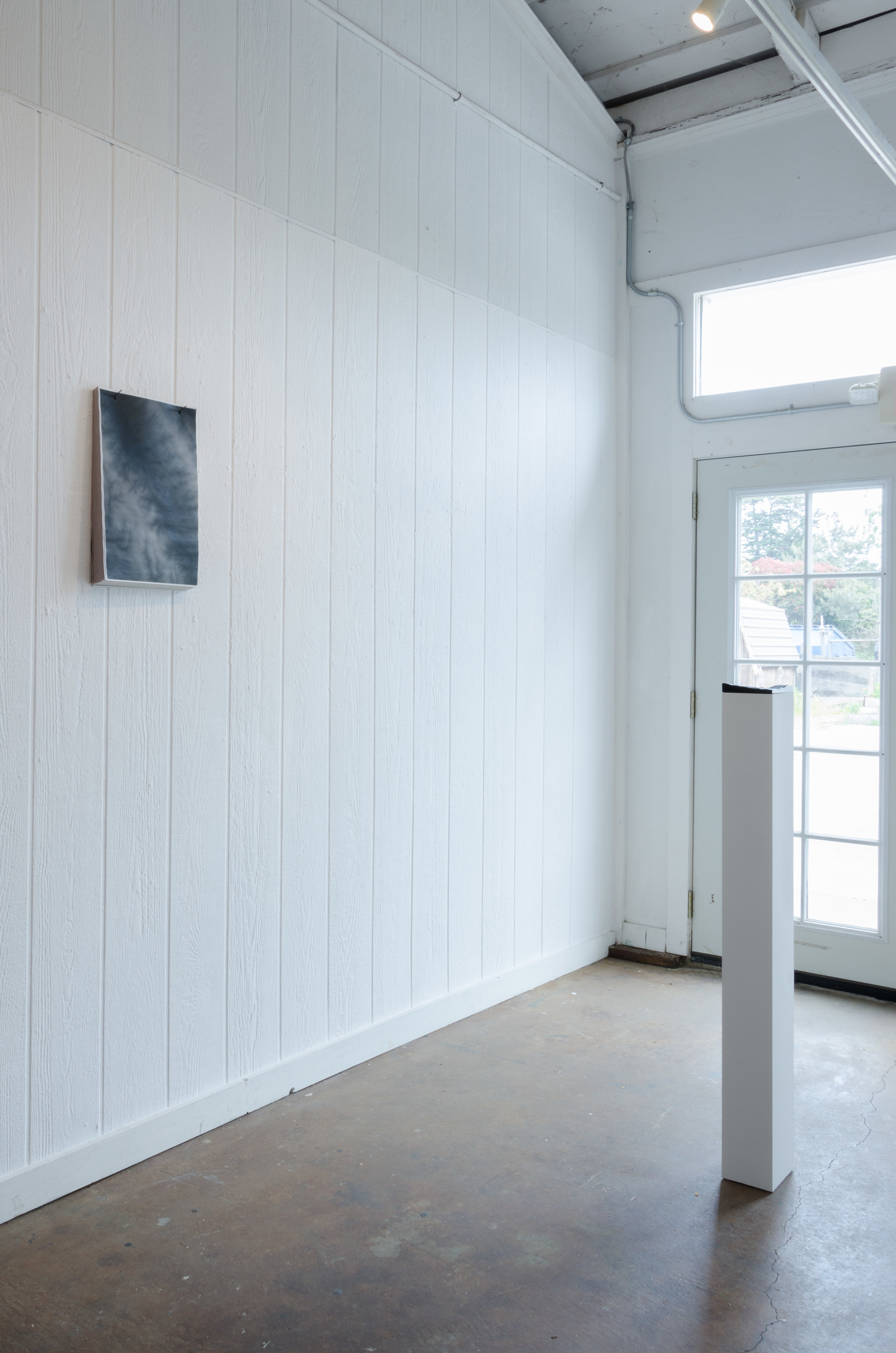 Installation View from origins at Toby's Gallery   (from left to right)  untitled, 13 Curves,  Point Reyes Station 2019