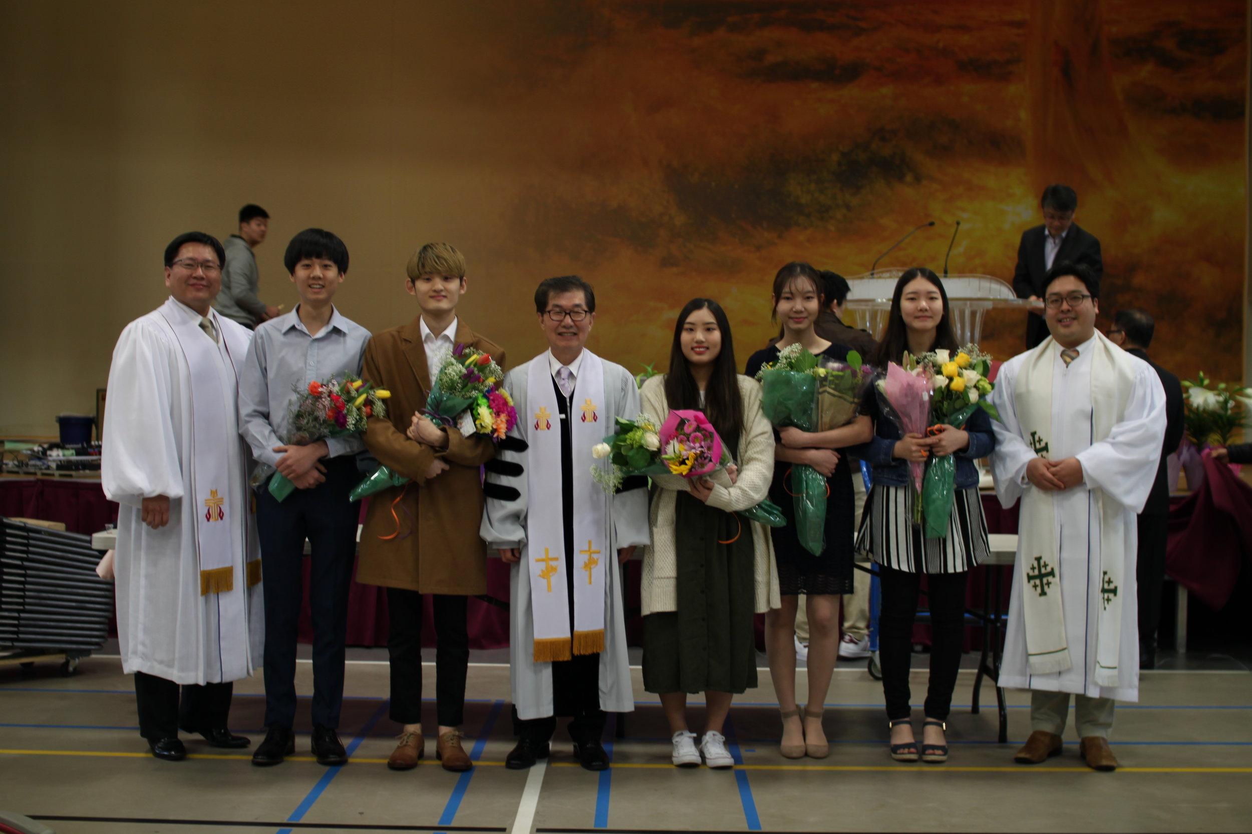 2018년 부활절 세례받으신 분들